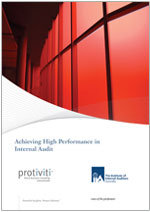Achieving High Performance in Internal Audit - 3rd edition